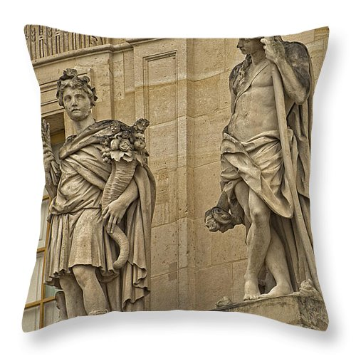Versailles Throw Pillow featuring the photograph The Beauty Of Versailles - 3 by Hany J
