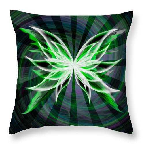 Black Throw Pillow featuring the digital art The Beauty Within by Teri Schuster
