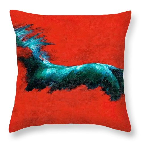 Equine Art Throw Pillow featuring the painting The Beginning Of Life by Frances Marino