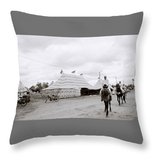 Horse Throw Pillow featuring the photograph The Berber by Shaun Higson