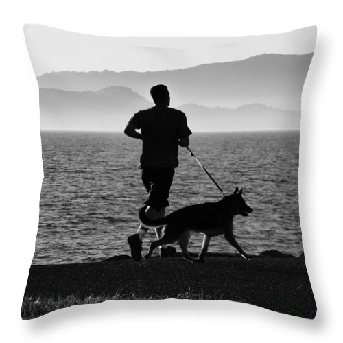 Friends Throw Pillow featuring the photograph The Best Buddies B by Xueling Zou