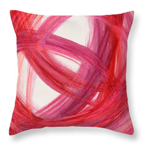 Abstract Throw Pillow featuring the drawing The Best Way Out-4 by Kelly K H B