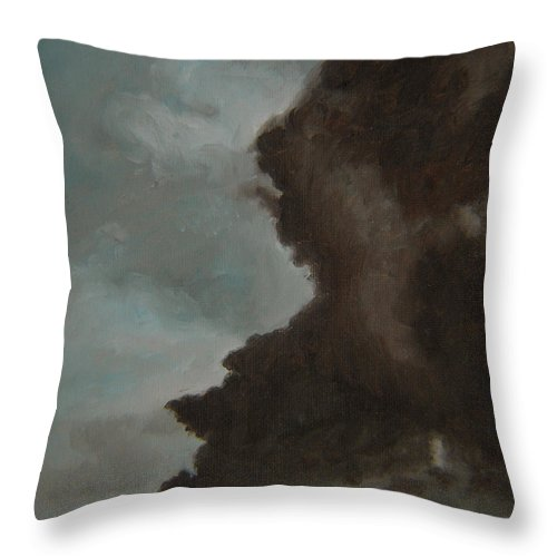 Smoke Throw Pillow featuring the painting The Big Smoke by Thu Nguyen