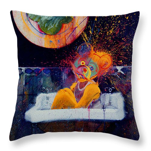 Bear Throw Pillow featuring the painting The Big Wash by Charles Stuart