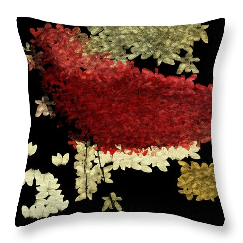Red Throw Pillow featuring the painting The Bird - V1102b02 by Variance Collections