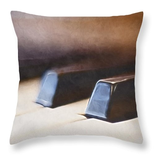 Piano Throw Pillow featuring the photograph The Black Keys by Scott Norris