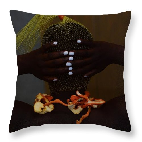Orange Color Throw Pillow featuring the photograph The Black Victorian by Stephanie Nnamani