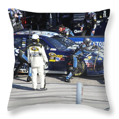 Nascar Throw Pillow featuring the digital art The Blues Brothers by L L L