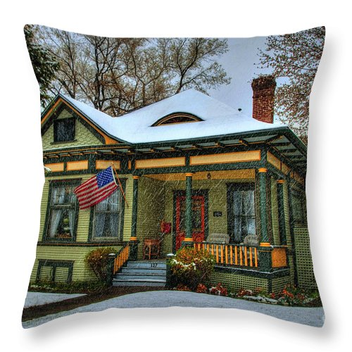 Diana Graves Throw Pillow featuring the photograph The Blustery Day by K D Graves