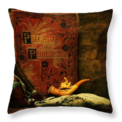 Books Throw Pillow featuring the photograph The Bookshelf by John Anderson