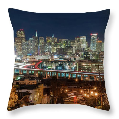 Tranquility Throw Pillow featuring the photograph The Breath Taking View Of San Francisco by Www.35mmnegative.com
