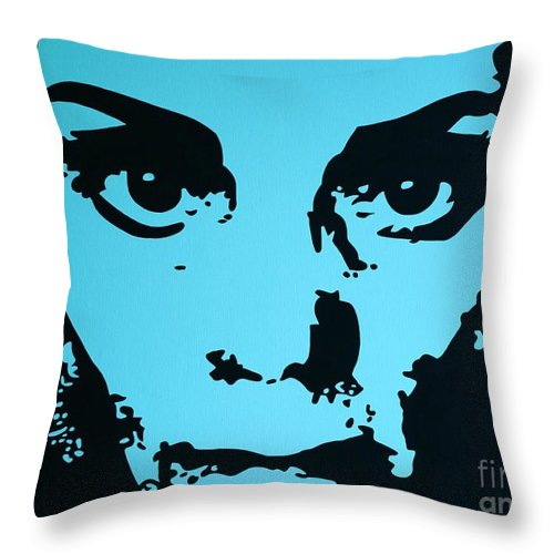 Woman Throw Pillow featuring the painting The Brooding Woman 2 by Gigi Croom