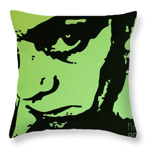 Woman Throw Pillow featuring the painting The Brooding Woman 3 by Gigi Croom