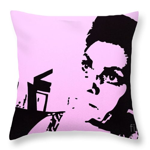 Woman Throw Pillow featuring the painting The Brooding Woman 4 by Gigi Croom