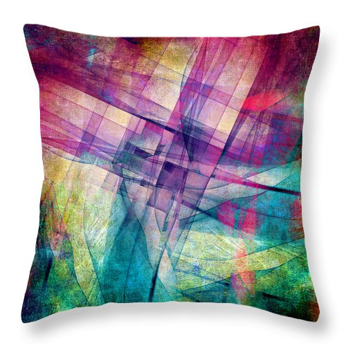 Buildings Block Throw Pillow featuring the digital art The Building Blocks by Angelina Tamez