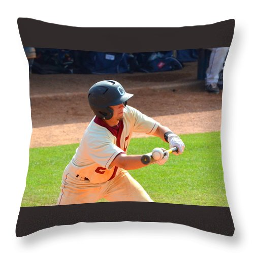Bunt Throw Pillow featuring the photograph The Bunt by Darrell Clakley