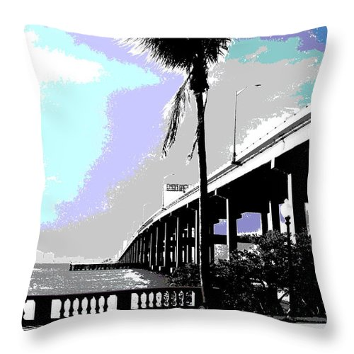 Nature Throw Pillow featuring the photograph The Caloosahatchee by Jimi Bush