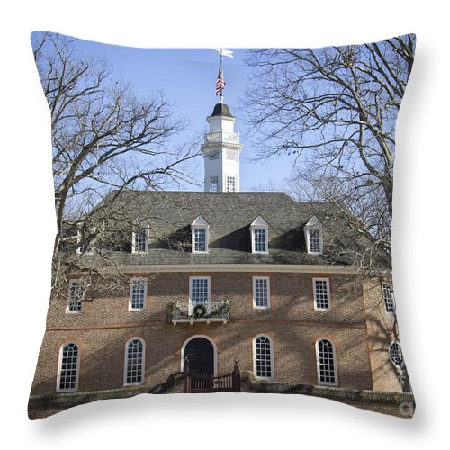 Colonial Throw Pillow featuring the photograph The Capitol by Teresa Mucha