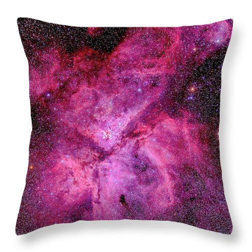 Southern Hemisphere Throw Pillow featuring the photograph The Carina Nebula In The Southern Sky by Alan Dyer/stocktrek Images