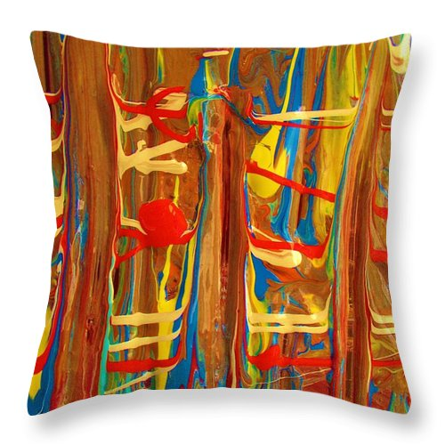 Original Throw Pillow featuring the painting The Carnival by Artist Ai