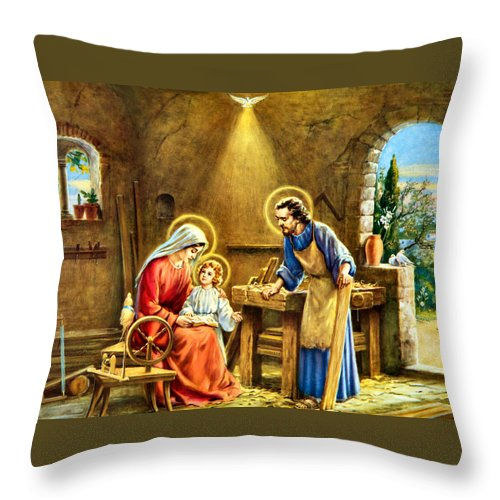 Joseph Throw Pillow featuring the photograph The Carpenter by Munir Alawi