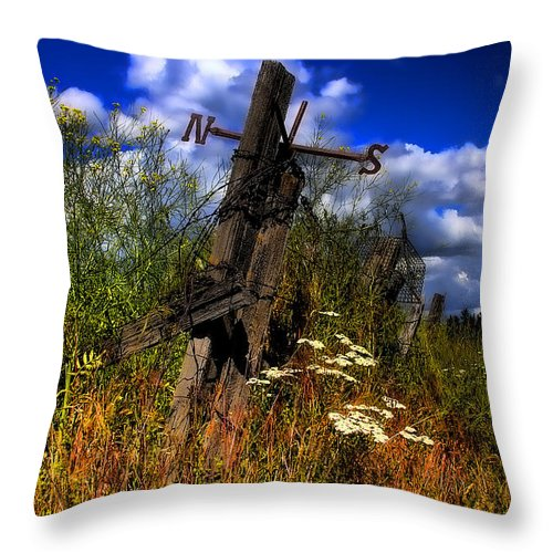 Junk Castle Throw Pillow featuring the photograph The Castle Fence Line by David Patterson