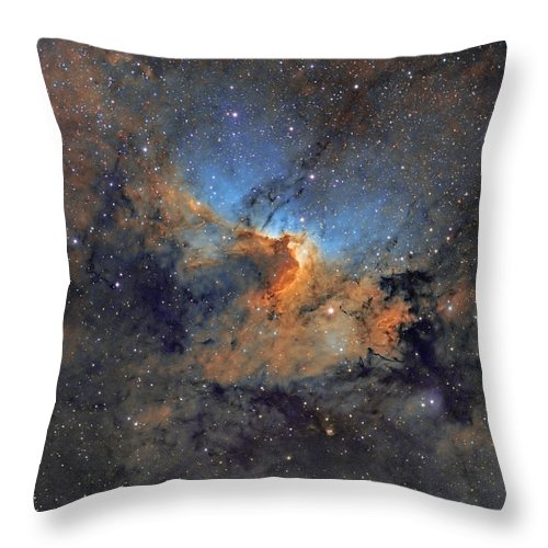 Astro Throw Pillow featuring the photograph The Cave Nebula - Beauty In Space by Sara Wager