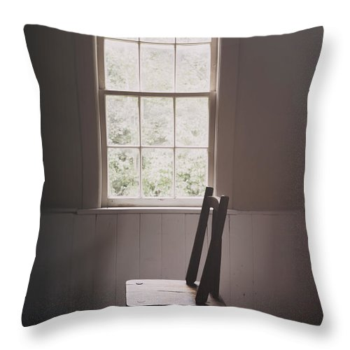 Chair Throw Pillow featuring the photograph The Chair By The Window I by Margie Hurwich