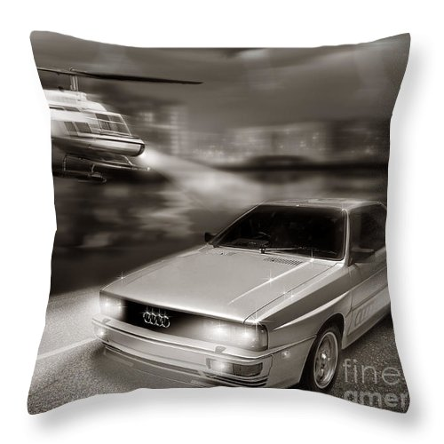 Audi Quattro Throw Pillow featuring the digital art The Chase 3 by Linton Hart
