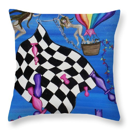 Jandrel Throw Pillow featuring the painting The Choice by J Andrel