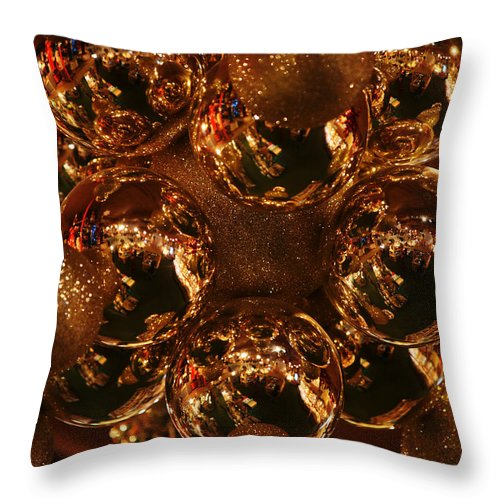 Christmas Throw Pillow featuring the photograph The Christmas Gift by Linda Shafer