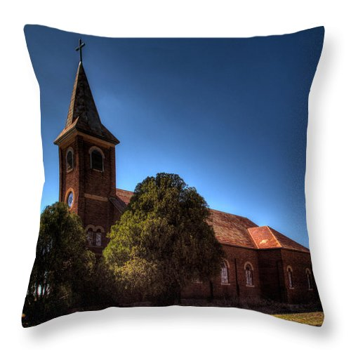 Abandoned Throw Pillow featuring the photograph The Church by Jonathan Davison