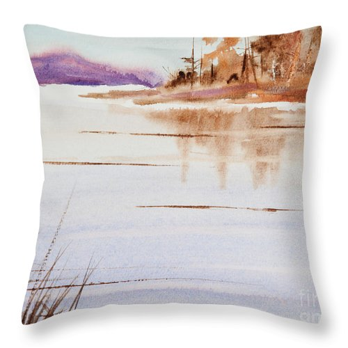 The Color Of Autumn Throw Pillow featuring the painting The Color Of Autumn by Michelle Constantine