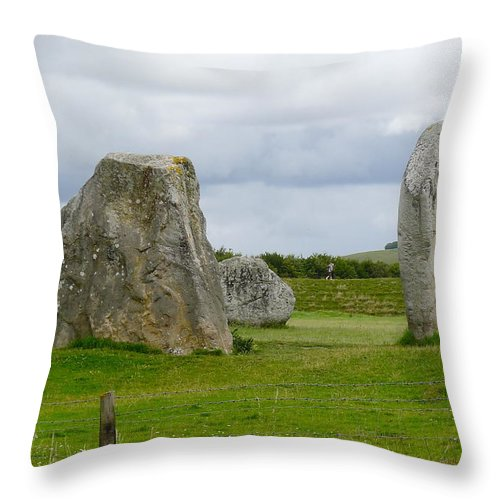 Avebury Throw Pillow featuring the photograph The Cove At Avebury by Denise Mazzocco