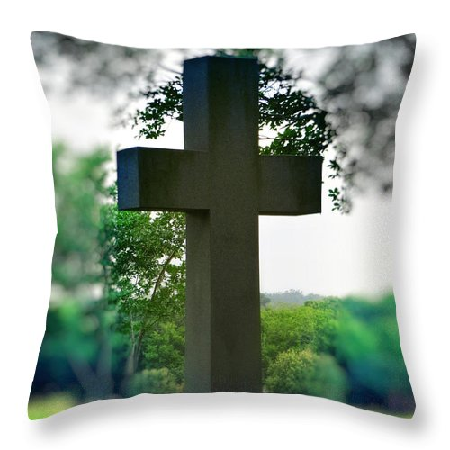 Cross Of Jesus Throw Pillow featuring the photograph The Cross of Jesus - I Am The Way by Ella Kaye Dickey