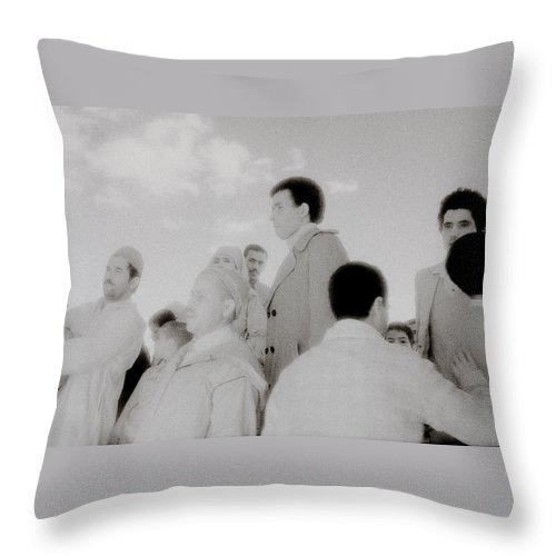 Surreal Throw Pillow featuring the photograph The Strange Crowd by Shaun Higson