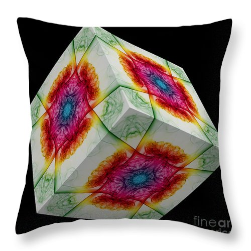 Smoking Trails Throw Pillow featuring the photograph The Cube 10 by Steve Purnell