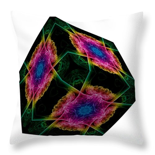 Smoking Trails Throw Pillow featuring the photograph The Cube 9 by Steve Purnell