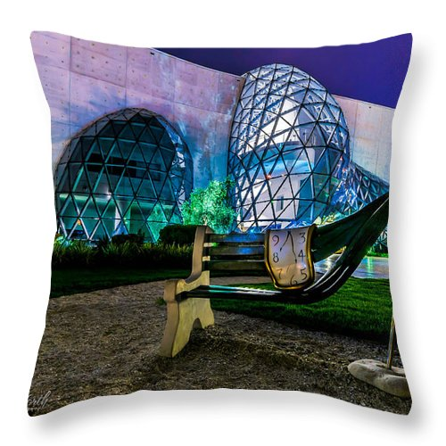 Salvador Dali Museum Throw Pillow featuring the photograph The Dali by Kevin Whitworth