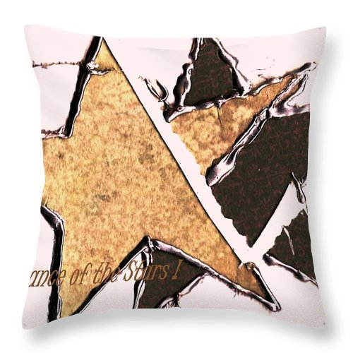 Canvas Throw Pillow featuring the digital art The Dance Of The Stars by Diane Strain