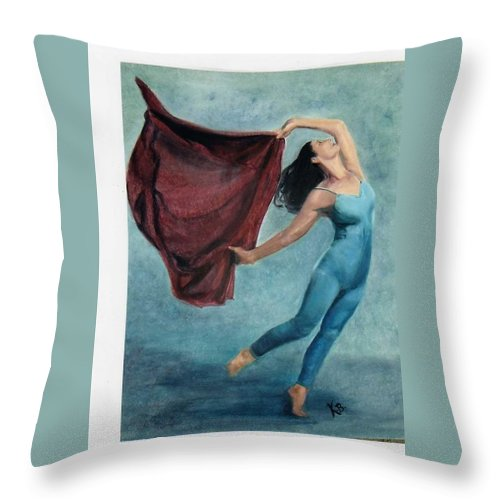 Dancer Throw Pillow featuring the painting The Dancer by Katherine Berlin
