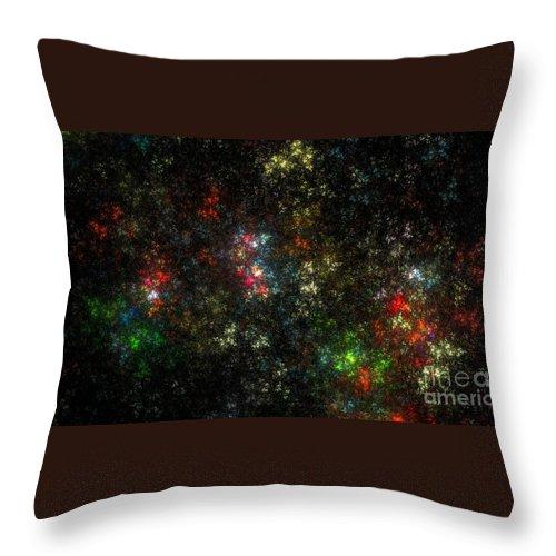 Peter R Nicholls Abstract Fine Artist Canada Throw Pillow featuring the digital art The Dark Side Of Monet by Peter R Nicholls