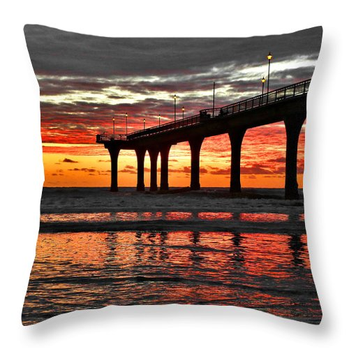 New Zealand Throw Pillow featuring the photograph The Day Has Arrived by Steve Taylor