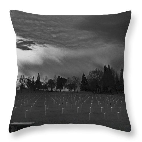 Special Effect Throw Pillow featuring the photograph The Dead Lie Here by Mick Anderson