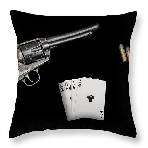 American Throw Pillow featuring the photograph The Deadmans Hand by Doug Long