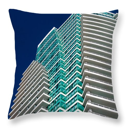 Architectural Features Throw Pillow featuring the photograph The Diplomat by Ed Gleichman