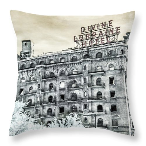 Divine Lorraine Throw Pillow featuring the photograph The Divine by Stacey Granger