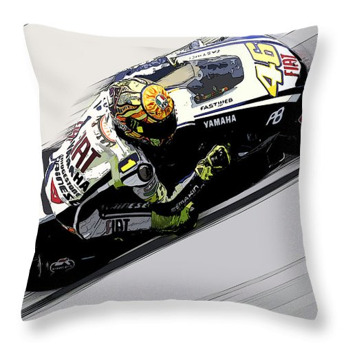Porsche Throw Pillow featuring the painting the Doctor by Tano V-Dodici ArtAutomobile