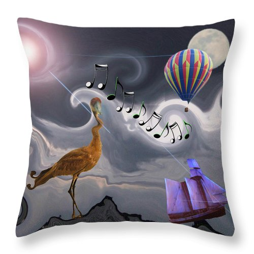 Birds Throw Pillow featuring the photograph The Dream Voyage - Mad World Series by Amanda Vouglas