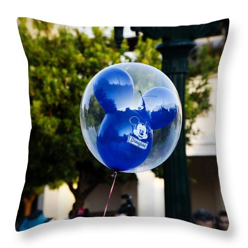 Balloon Throw Pillow featuring the photograph The Ears by Ricky Barnard